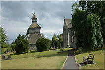 SO3958 : Bell Tower at the Church of St. Mary at Pembridge by Row17