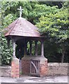 TF3038 : Lych Gate, SS Peter and Paul, Kirton by Elizabeth Hancock