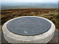 SO5986 : Abdon Burf toposcope on Brown Clee Hill by John Rose