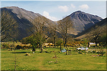 NY1807 : National Trust campsite at Wasdale Head by Nigel Brown