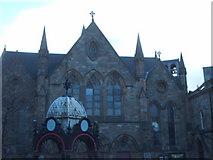 NS5565 : New Govan Church and Aitken Memorial Fountain by Lynn M Reid