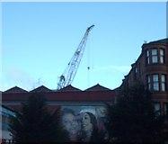 NS5566 : Shipyard Crane and Mural by Lynn M Reid