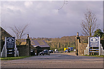 TQ2996 : Entrance to Trent Park Equestrian Centre, Bramley Road, Enfield by Christine Matthews