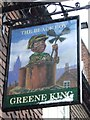 TL8563 : The Black Boy pub sign by Keith Evans