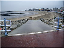 SD4364 : Slipway on to Shell Bed Flat, Morecambe by Alexander P Kapp