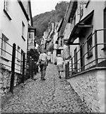 SS3124 : Main street Clovelly, Devon, taken 1967 by Christine Matthews