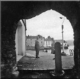 SX8751 : Looking through archway to quayside Dartmouth, Devon, taken 1968 by Christine Matthews