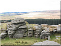 SX6476 : Bellever Tor: across the gap by Stephen Craven