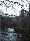 NS5666 : The river Kelvin At Yorkhill by Lynn M Reid