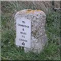 TL4850 : Milestone on Cambridge Road by Keith Edkins