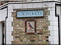 TL4849 : Cross Keys signs by Keith Edkins