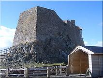 NU1341 : Lindisfarne Castle - rear view by Nick Mutton