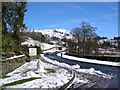 NY3403 : A593 through Skelwith Bridge by DS Pugh
