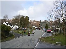 NY3204 : Village green - Elterwater by DS Pugh
