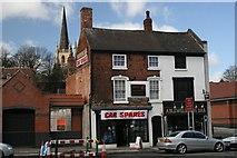 SP0198 : Car Spares & Chip shop by Derek Bennett