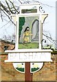 TL5850 : Close-up of Balsham village sign by Colin Bell