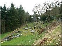 SN7673 : Hafod Church and yard by John Fielding