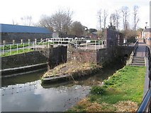 SJ2207 : Lock on Montgomery Canal by John Firth