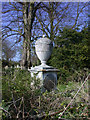 TL4748 : Urn tomb, Whittlesford churchyard by Keith Edkins