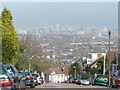 TQ3573 : View of Westminster and Central London from Canonbie Rd by Brian Whittle