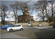 SE1321 : Car park, Church Street, Rastrick by Humphrey Bolton