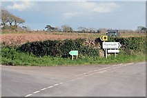 SX3358 : Road signs nr Trerulefoot by roger geach