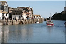 SX2553 : A Fishing boat heads out from Looe Harbour by roger geach