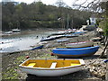 SW7527 : Boats on the foreshore by Porth Navas quay by Rod Allday