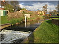 SO9063 : Weir on the Salwarpe by Chris Allen