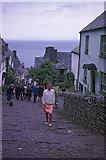SS3124 : Looking down the hill at Clovelly, Devon taken 1967 by Christine Matthews
