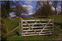 NY2621 : Calfclose Bay gate by Ian Capper