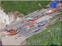TA2372 : Boats at North Landing, Flamborough Head by Peter Church