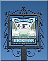 SO5715 : Village sign, English Bicknor by Pauline E
