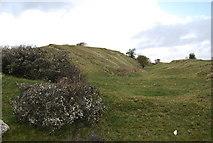 SZ0481 : Earthworks on top of Ballard Down by N Chadwick