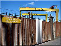 J3574 : Old shipyard gates, Belfast by Rossographer
