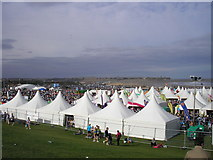 NZ3766 : Tented Village, Great North Run by Iain Lees