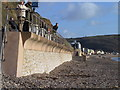 SY2489 : Sea wall, Seaton by N Chadwick