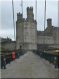 SH4762 : Caernarfon Castle from Aber bridge by Eirian Evans