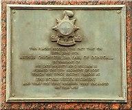 J3374 : Military plaque, Belfast by Albert Bridge