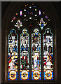 TG0704 : St Peter's church - east window by Evelyn Simak