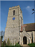 TG0600 : St Botolph's church - porch and tower by Evelyn Simak