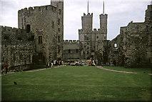 SH4762 : Caernarfon Castle, Gwynedd taken 1964 by William Matthews