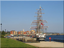 ST1167 : Tall Ship at the Waterfront Barry by Graham Davies