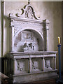 TG1633 : St Andrew's church - memorial to Dix Family by Evelyn Simak