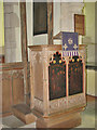 TG1633 : St Andrew's church - pulpit by Evelyn Simak