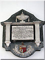 TG1733 : St Mary's church - memorial by Evelyn Simak