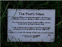 SO5763 : The Poet's Stone  Tribute by Martin Horwood