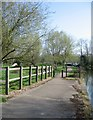 TL4457 : Riverside path - The Cam by Given Up