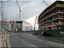 J3574 : Cranes and concrete, Belfast [5] by Rossographer
