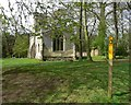 SK3414 : Footpath past Willesley Church by Mat Fascione
